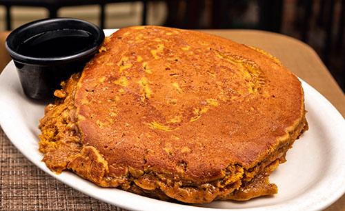 pumpkin nut pancakes breakfast in portsmouth nh