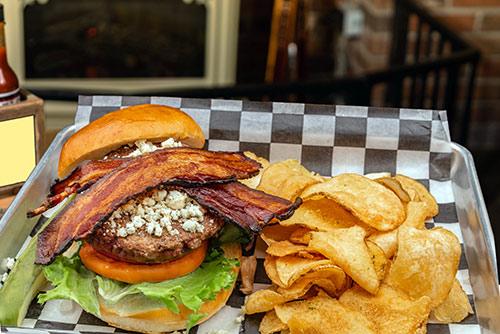 Blue Hawk burger lunch in portsmouth nh