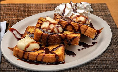 Boston creme french toast breakfast