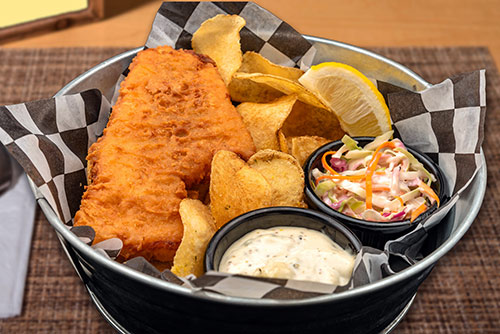 fish and chips lunch