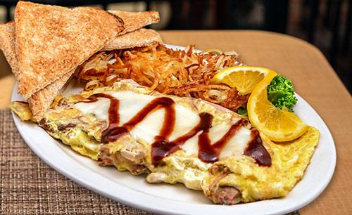 pulled pork omelette breakfast in portsmouth nh