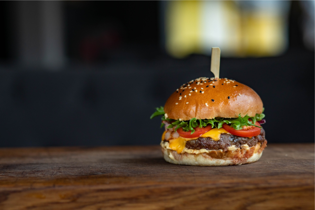 business lunch best burger